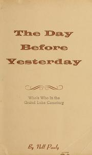 Cover of: The day before yesterday | Nell Pauly