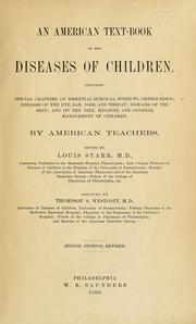 Cover of: An American text-book of the diseases of children | Louis Starr