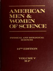 Cover of: American men & women of science by edited by the Jaques Cattell Press