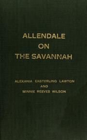 Cover of: Allendale on the Savannah | Alexania Easterling Lawton