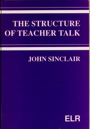 Cover of: The structure of teacher talk | John Sinclair