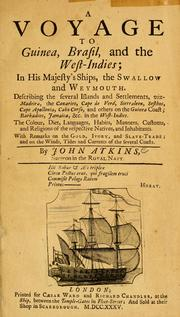 Cover of: A voyage to Guinea, Brasil and the West Indies ... | Atkins, John