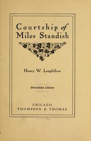 Cover of: Courtship of Miles Standish | Henry Wadsworth Longfellow