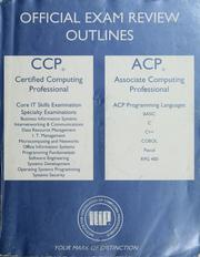 Cover of: Certified computing professional examination review outlines | Terry Linkletter