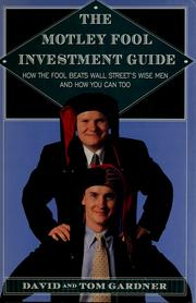 Cover of: The Motley Fool investment guide | Gardner, David