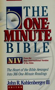 Cover of: The one-minute Bible | John R. Kohlenberger III