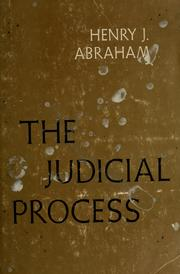 Cover of: The judicial process | Henry Julian Abraham