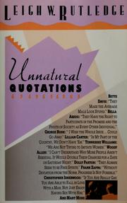 Cover of: Unnatural quotations |