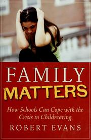 Cover of: Family matters | Evans, Robert