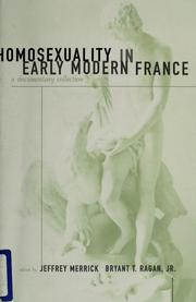 Cover of: Homosexuality in early modern France |