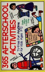 Cover of: 365 afterschool activities | Sheila Ellison