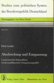 Cover of: Abschreckung und Entspannung