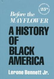 Cover of: Before the Mayflower | Lerone Bennett