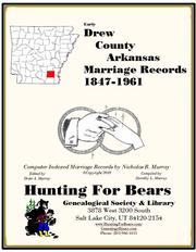 Drew Co AR Marriages 1847-1861