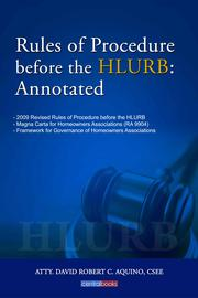 Rules of Procedure before the HLURB by Aquino