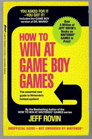 How to Win at Game Boy Games by Jeff Rovin