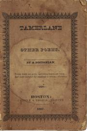 Cover of: Tamerlane and other poems