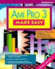 Cover of: Ami Pro 3 Made Easy | Daniel J. Fingerman