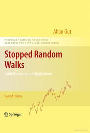 Cover of: Stopped random walks | Allan Gut