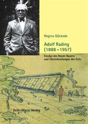Cover of: Adolf Rading
