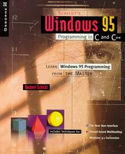 Cover of: Schildt's Windows 95 programming in C and C++