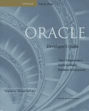 Cover of: Oracle developer