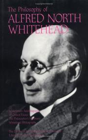 Cover of: The Philosophy of Alfred North Whitehead, Volume 3 (Library of Living Philosophers)