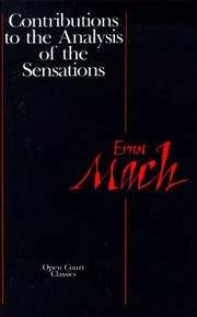 Cover of: Contributions to the Analysis of the Sensations (Open Court Classics)
