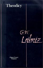 Cover of: Theodicy | Gottfried Wilhelm Leibniz