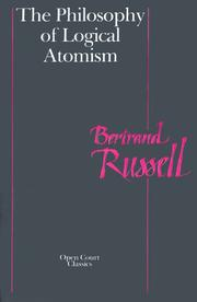 Cover of: The philosophy of logical atomism