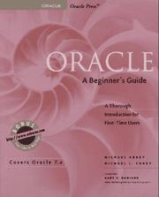 Cover of: Oracle, a beginner's guide