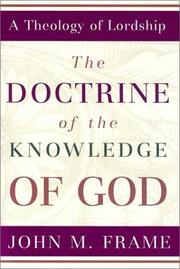 Cover of: The doctrine of the knowledge of God