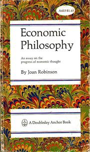 Economic philosophy.
