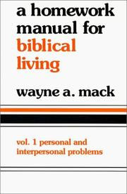 Cover of: Homework Manual for Biblical Living
