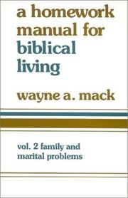 Cover of: A Homework Manual for Biblical Counseling