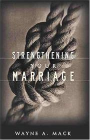 Cover of: Strengthening your marriage