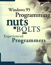 Cover of: Windows 95 programming nuts & bolts: for experienced programmers