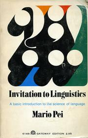 Cover of: Invitation to linguistics: a basic introduction to the science of language
