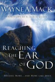 Cover of: Reaching The Ear Of God