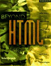 Cover of: Beyond HTML