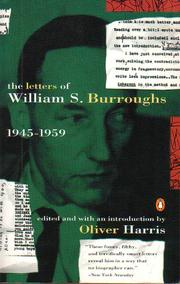 Cover of: The letters of William S. Burroughs