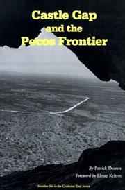Cover of: Castle Gap and the Pecos frontier