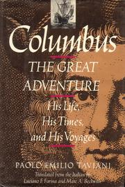 Cover of: Columbus, the great adventure | Paolo Emilio Taviani