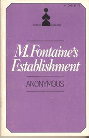 Cover of: M. Fontaine