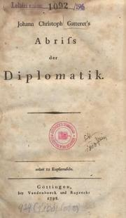 Cover of: Abriß der Diplomatie