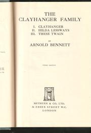 The Clayhanger family by Arnold Bennett