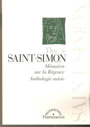 Cover of: Memoires sur la Regence: Anthologie suivie