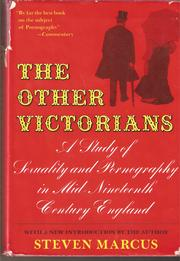 The other Victorians by Steven Marcus
