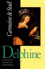 Cover of: Delphine | Germaine De Stael