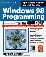 Cover of: Windows 98 programming from the ground up